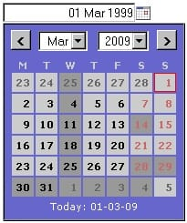 simple-calendar-widget