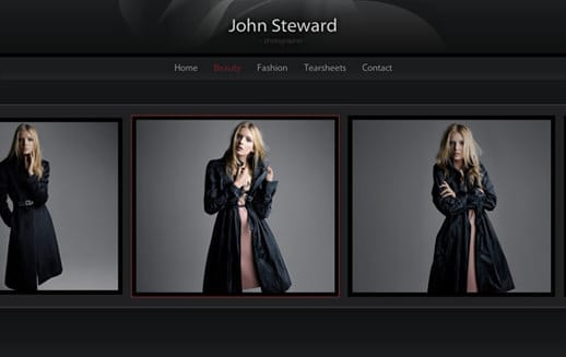 Professional Photography Portfolio Template Screenshot
