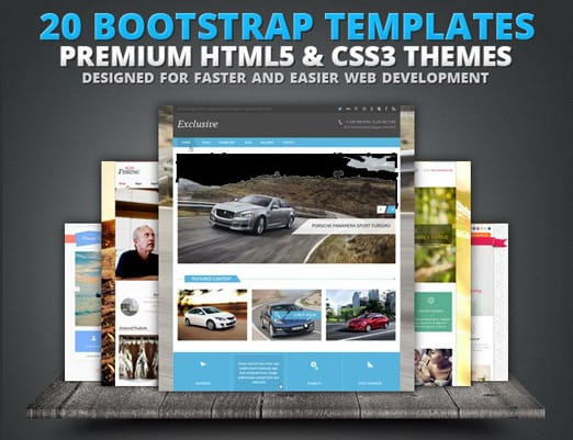 20 Premium Bootstrap Templates from Flashmint