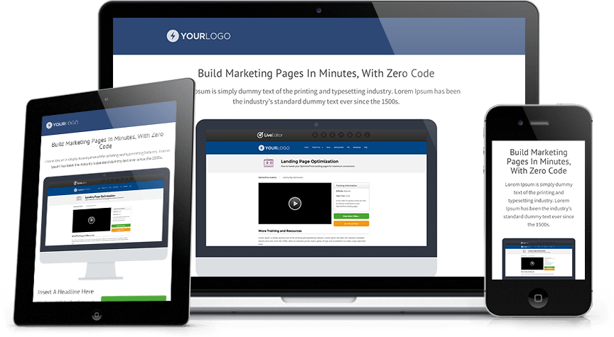 OptimizePress Screens Responsive Mobile Ready Versions